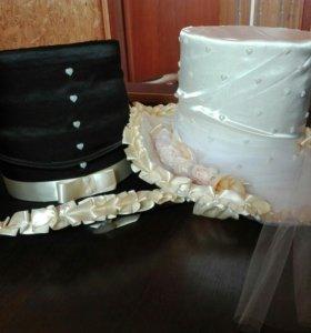 Шляпы для украшения свадебных машин