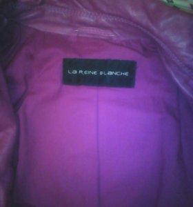 Кожаная женская куртка 46размер