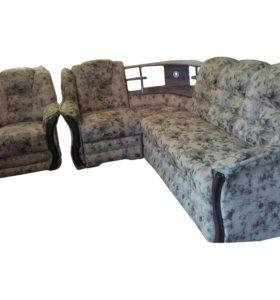 """0546 диван улвовой """"Новелла """" с креслом"""