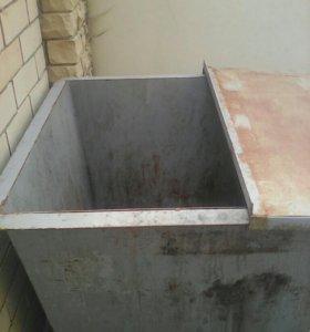 Мусорные бак железный 500 литр б/у