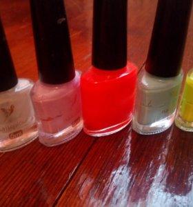 Все лаки цветные для ногтей бутылочки стеклянные