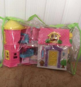 Замок для мелких пони и других игрушек