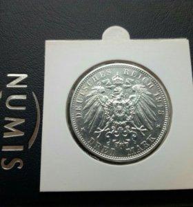 3 марки 1913(Саксонец)