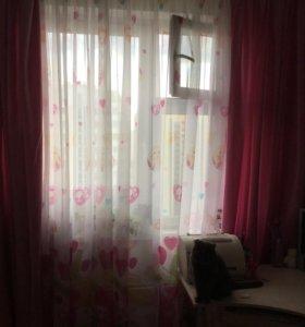 Шторы и тюль в комнату для девочки