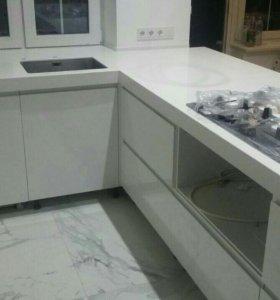Кухонные столешницы из кварцевого агламирата