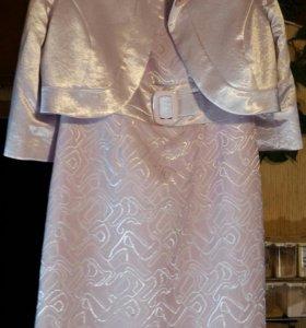 Нарядное платье с болеро, р-р 50, новое