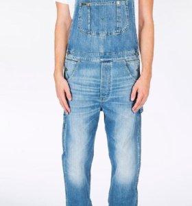Новые рабочие джинсовые комбинезоны на лямках Дж