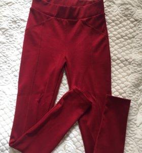 Бордовые брюки /леггинсы incity