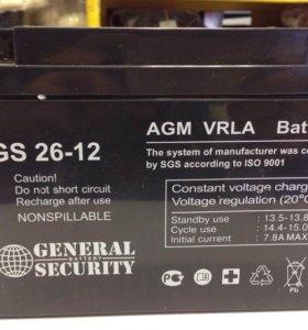 Аккумуляторная батарея 12V 26Ah