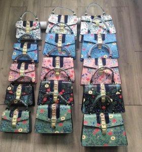 gucci женская новая сумка гуччи клатч в цветочек