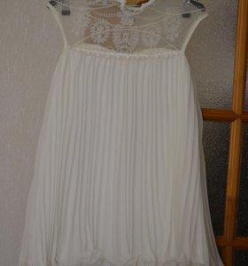 Белое легкое платье