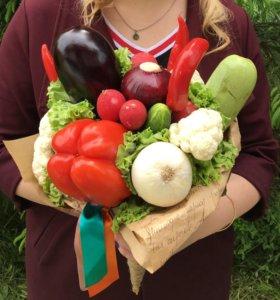 Овощные и фруктовые букеты