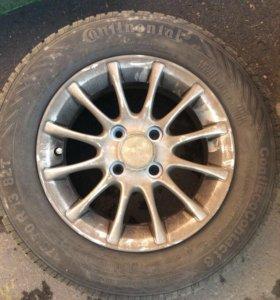 Литые диски и шины 13R 4шт