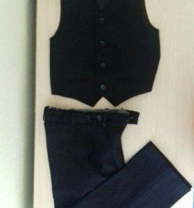 Костюм чёрный ( брюки +жилет)