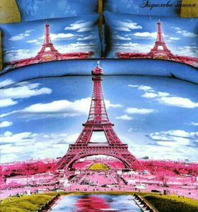 Сатин 3D Эйфелева башня