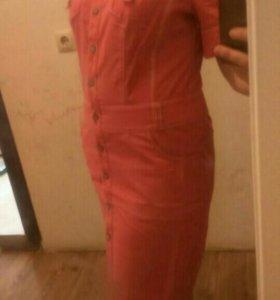 Платье сафари, размер 48-50