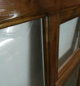 Деревяный стеклопакет