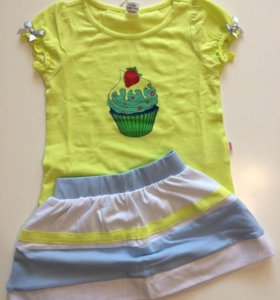 Новый Комплект футболка и юбка 80, 86 см