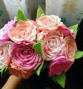 Цветы из фоамирана, подарки