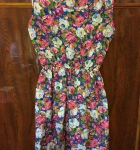 Платье новое цветастое Love FH
