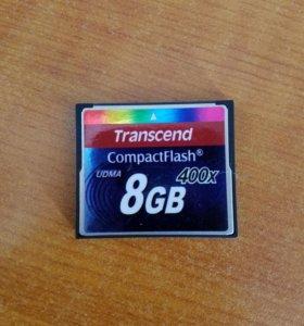 Продам карту памяти CF на 8gb 400x