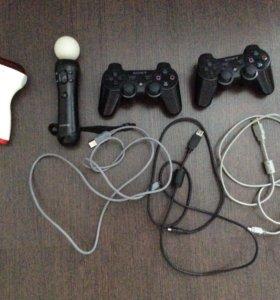 PlayStation 3+камера,Move,2 джойстика и 11 игр