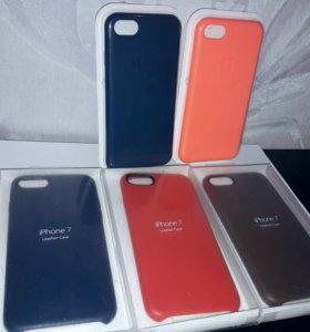 Apple case leather кожа iphone 7
