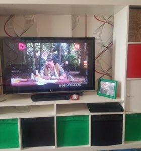 Тумба под телевизор с ящиками для хранения вещей
