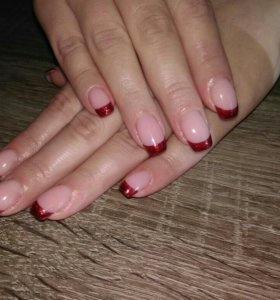 Укрепление ногтевой пластины (гель,акрил)