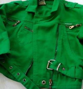 Куртка джинсовая на 10-13 лет девочка