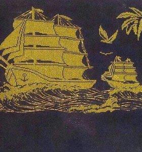 Вышивка бисером, корабли