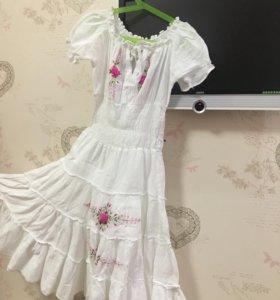 Хлопковое платье на девочку.