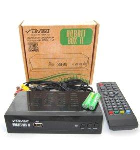 Новый DVB-T2 приемник hobbit BOX 20 бесп. каналов