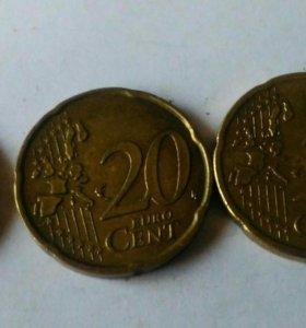 20 EVRO CENT 10EVRO CENT.