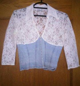 Джинсовая блузка и юбочка