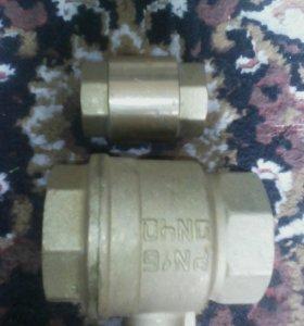 кран шаровый(латунь)и обратный клапан
