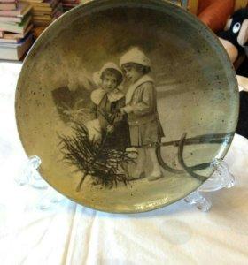 Тарелка декоративная, картина. Дизайн Marle Vinke