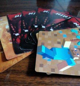 Карточки нинзяго майнкрафт трансформеры