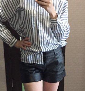 Кожаные шорты НОВЫЕ размер S 42-44