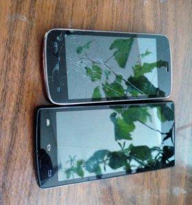Два телефона micromax d320 и explay t400+крышка