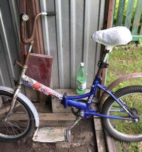 """Велосипед складной б/у колёса 20"""" Stels"""