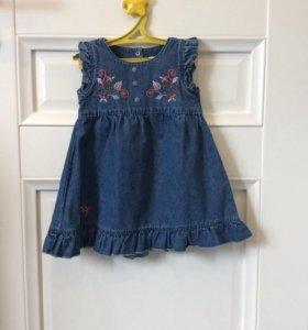 Джинсовое платье р.86