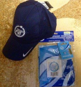 Бейсболка клуба Зенит от Nike,флаг клуба и значок