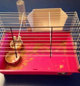 Клетка для грызунов+ 2 миски
