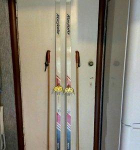 Лыжи Karjala + палки