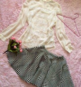 Блуза и юбка С/М