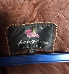 Продам мужскую кожаную куртку)вещь фирменная