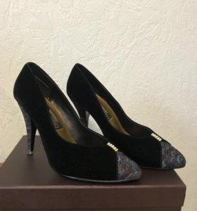 Туфли женские кожа+бархат