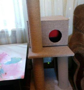 Домик-когтеточка для кошки