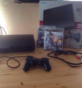 PS3 Slim 320gb+16 игр